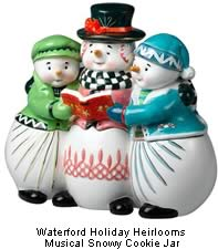 Waterford Holiday Heirlooms Musical Snowy Cookie Jar